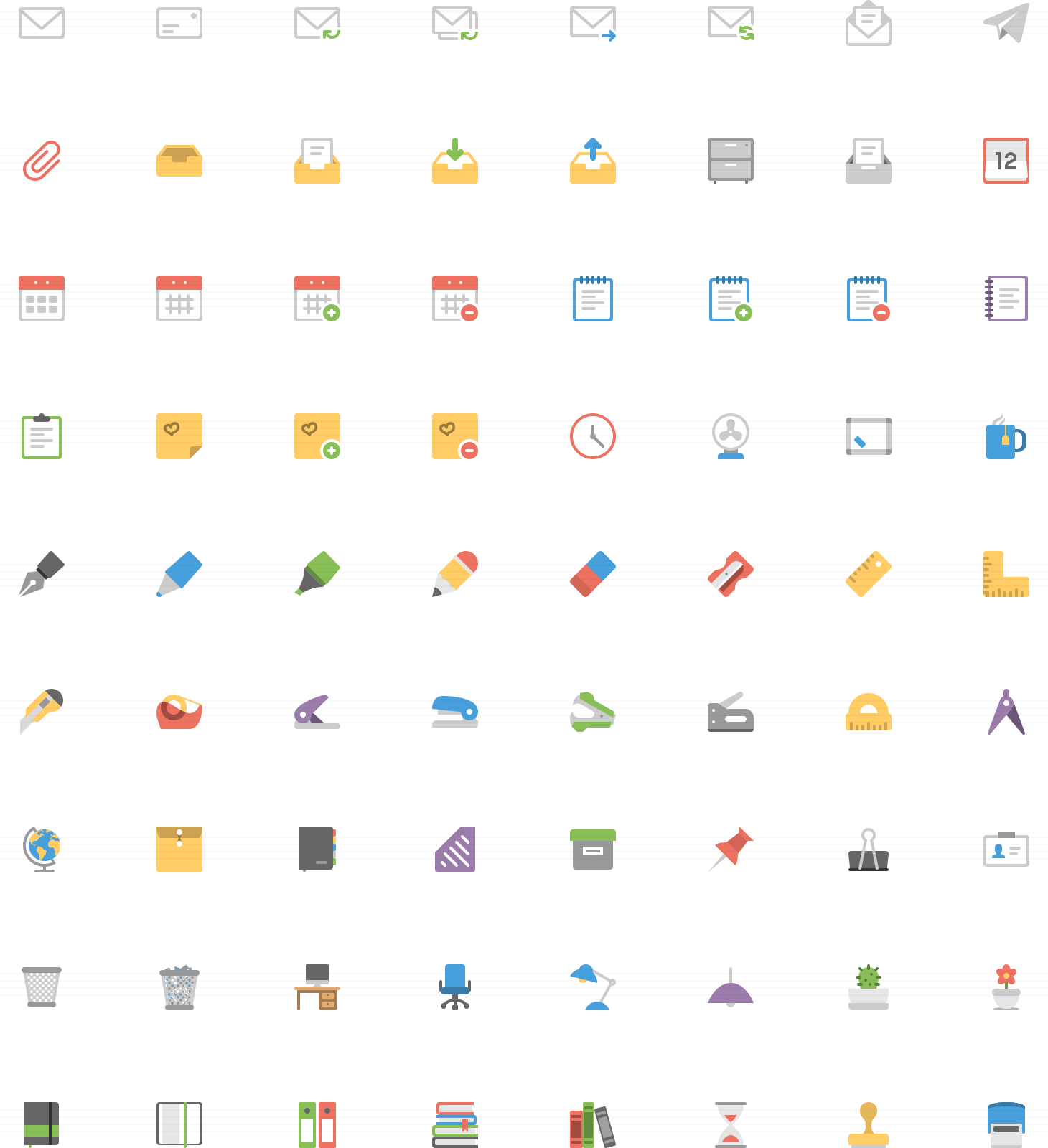 Vector set flat icon. Squid ink professional web