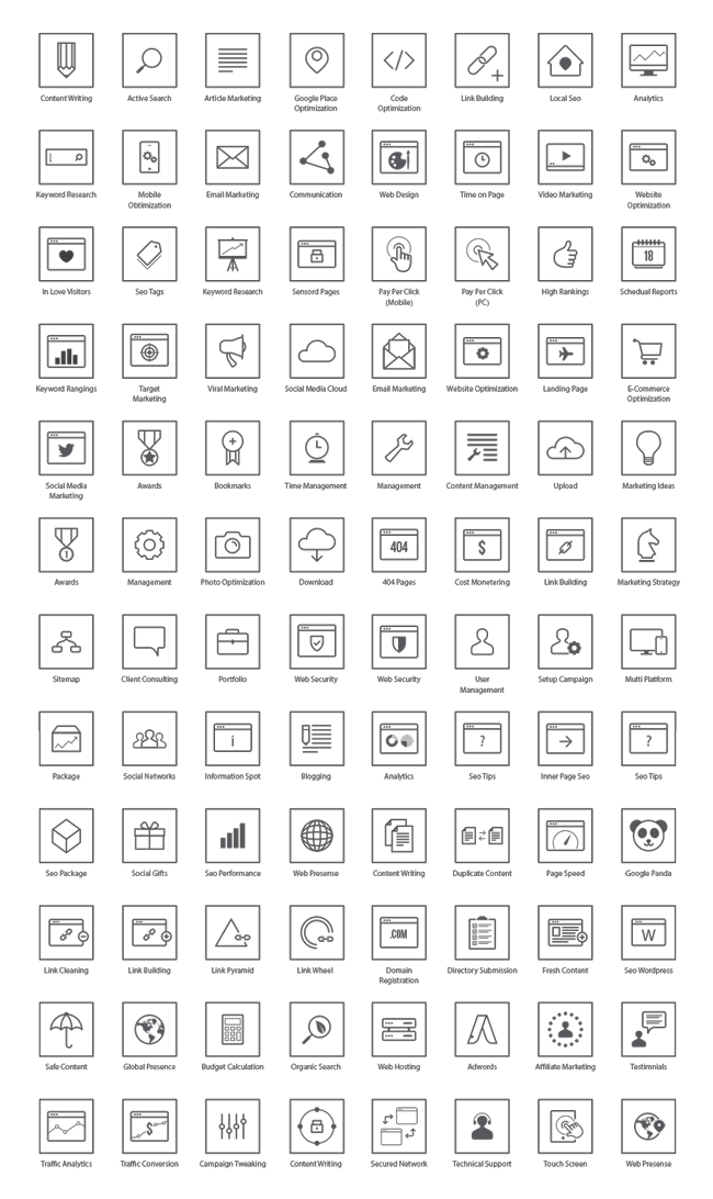 Design seo icons ai. All vector elements banner royalty free