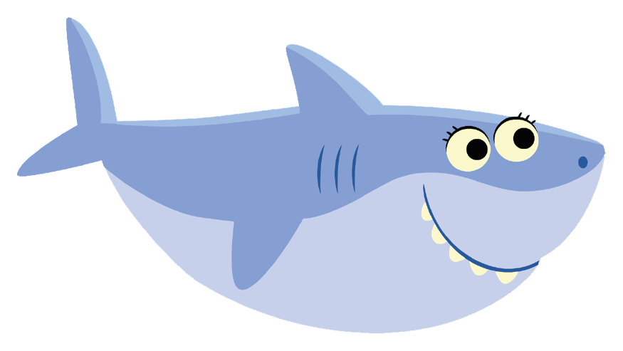 Vector sharks baby shark. Free printable pinkfong birthday