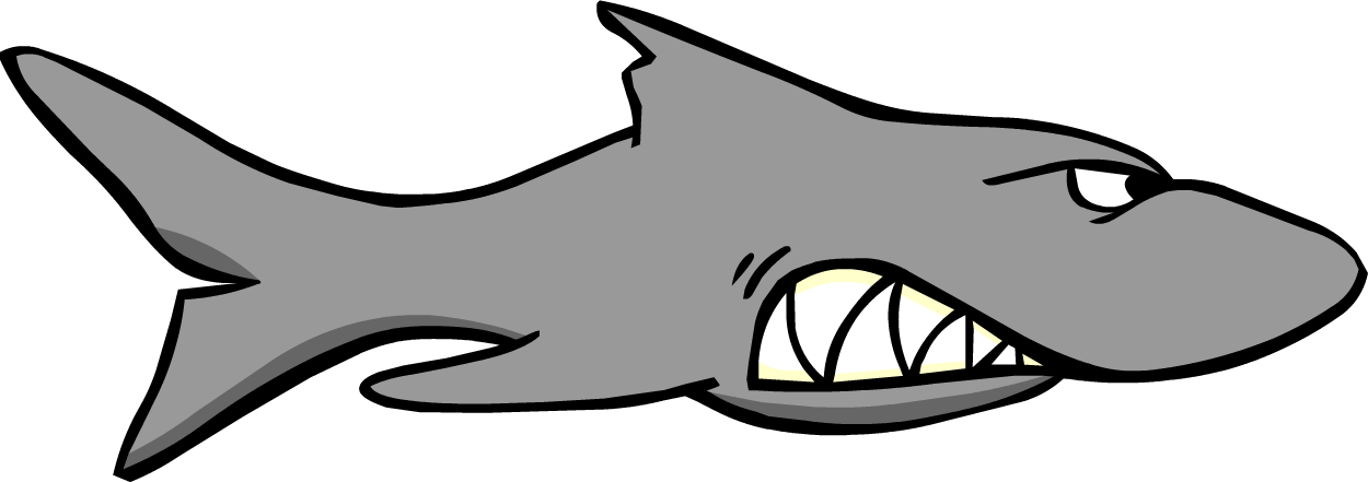 Vector sharks coloured. Seaweed graphic royalty