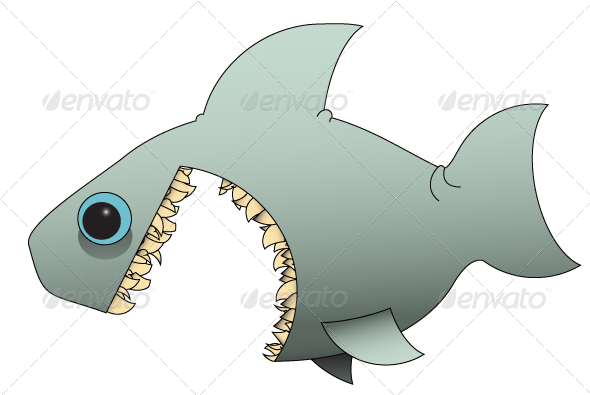 Vector sharks water. Shark vectors from graphicriver
