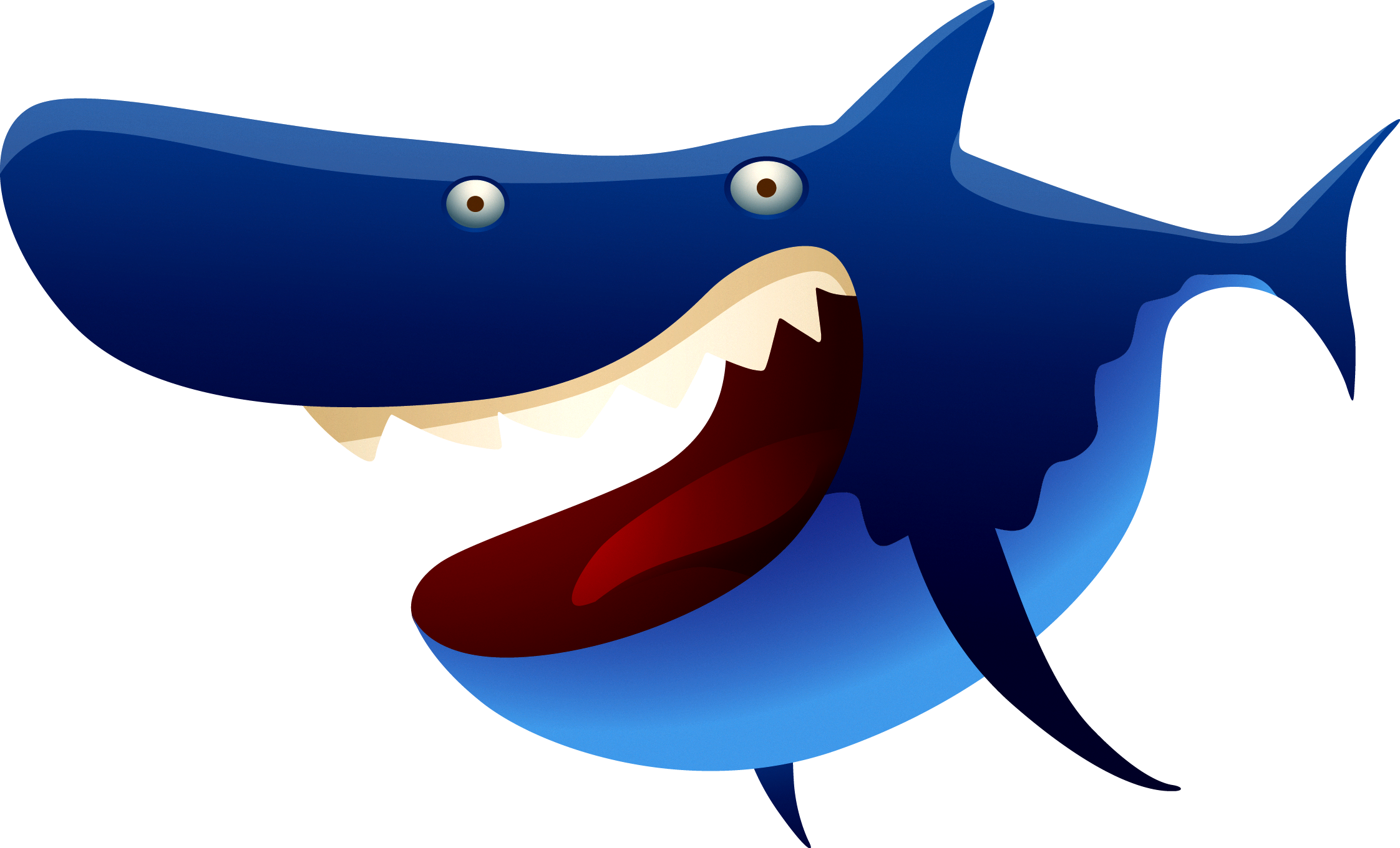 Vector sharks shark tooth. Fish transprent png free