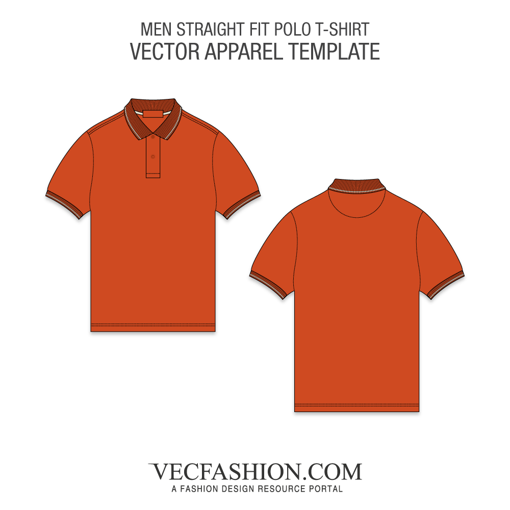 Vector shirts. T tagged burnt orange
