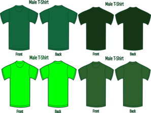 Vector shirts army green. Four t clip art