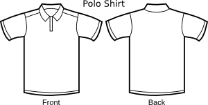 Vector shirts collared. Polo shirt template patterns