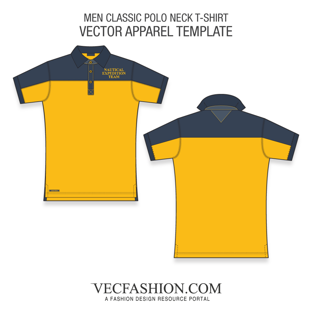 Vector shirts flat. Mst men classic polo