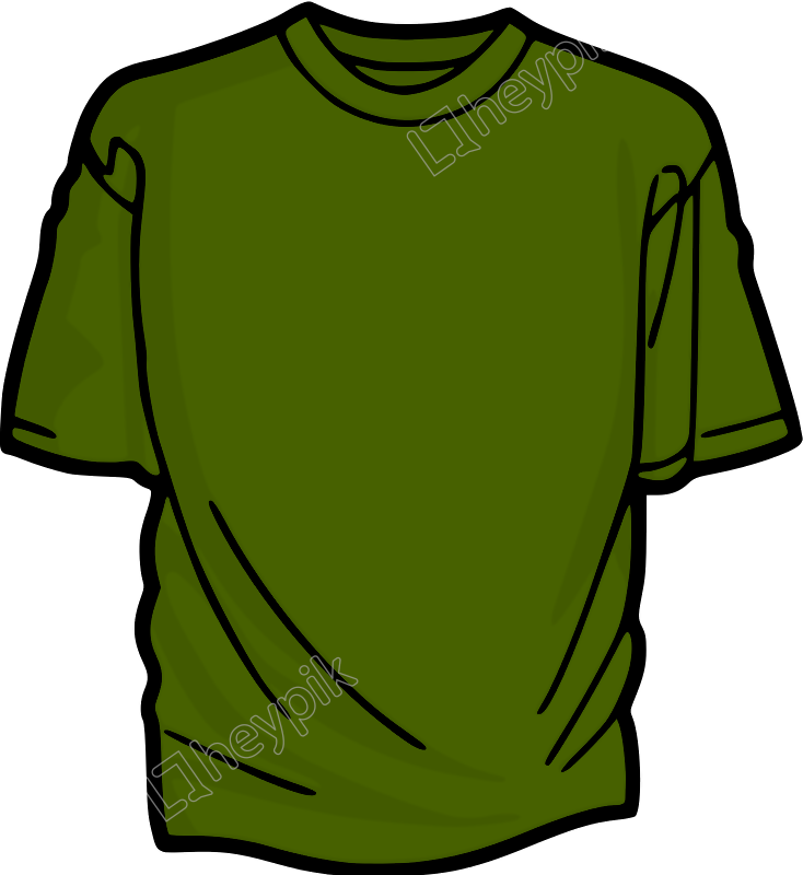 Vector shirts green. T free download