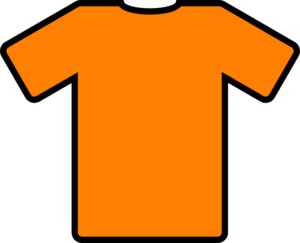 Vector shirts icon. Orange t shirt clip