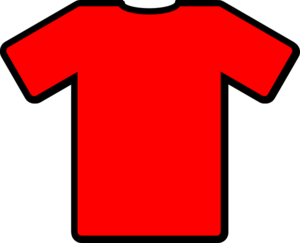 Vector shirts red. Tshirt clip art at