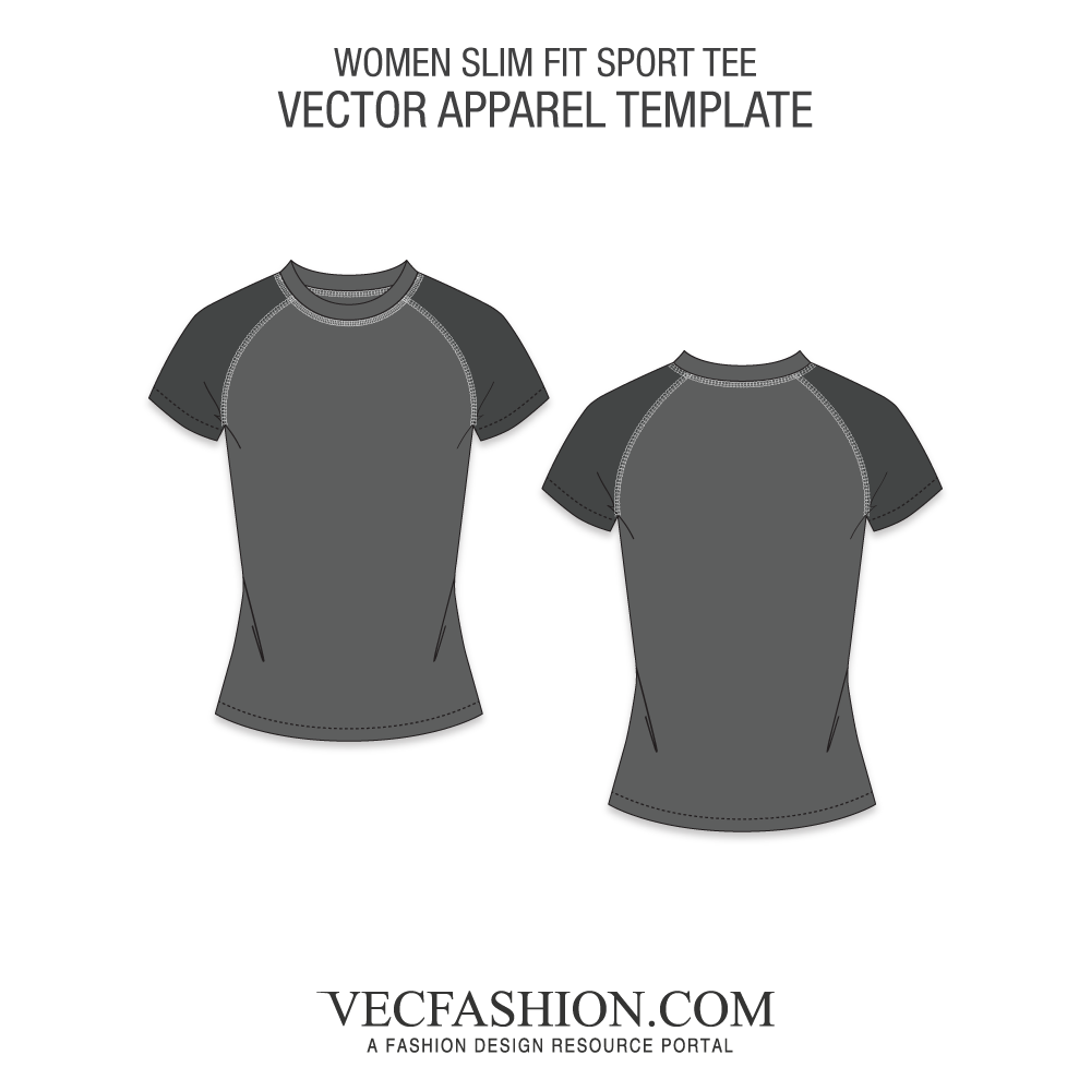 Vector women slim. Shirts t tagged fit