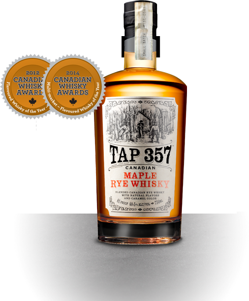 Vector shot bottle. Tap whisky rustic and