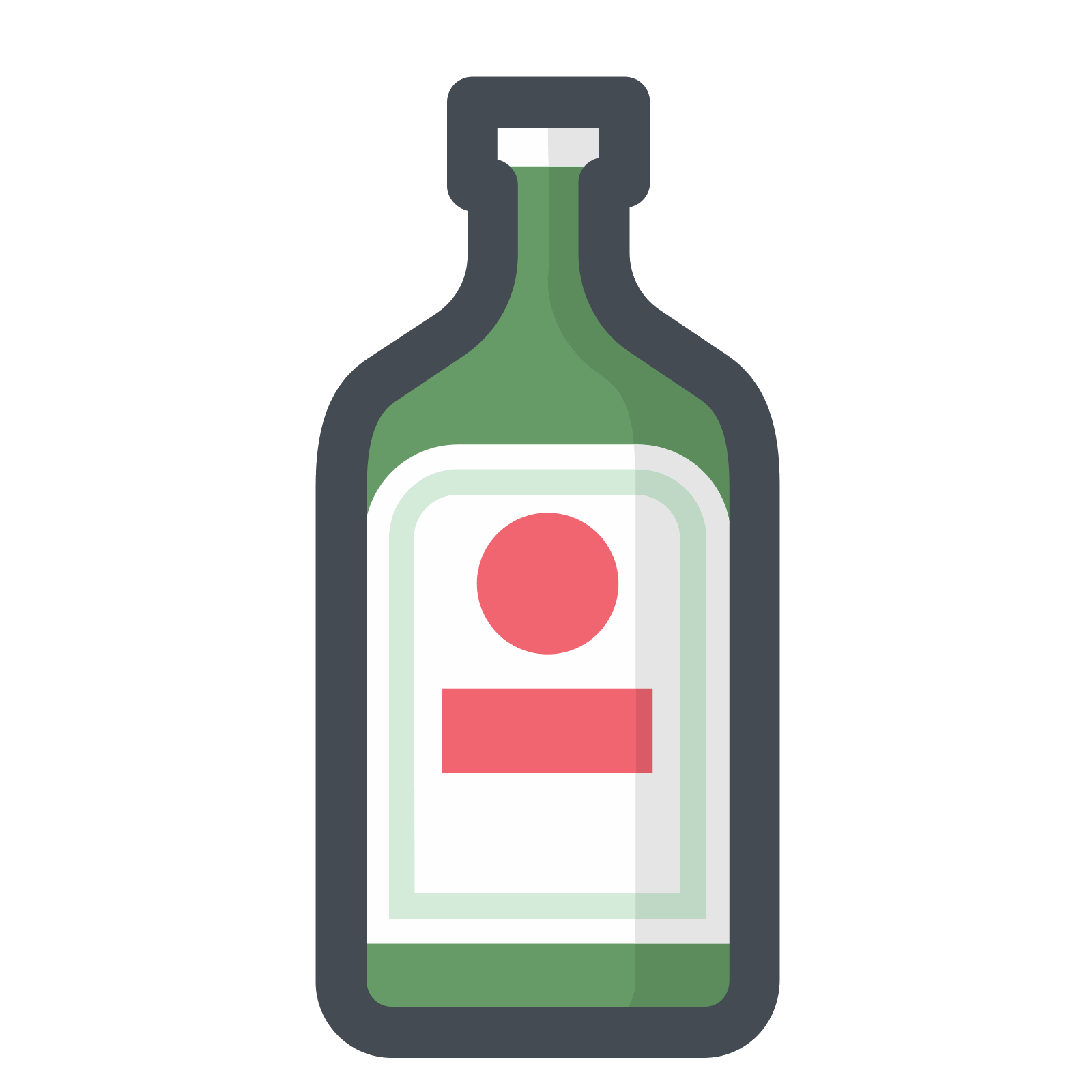 Vector shot bottle. Drinks icon pack png