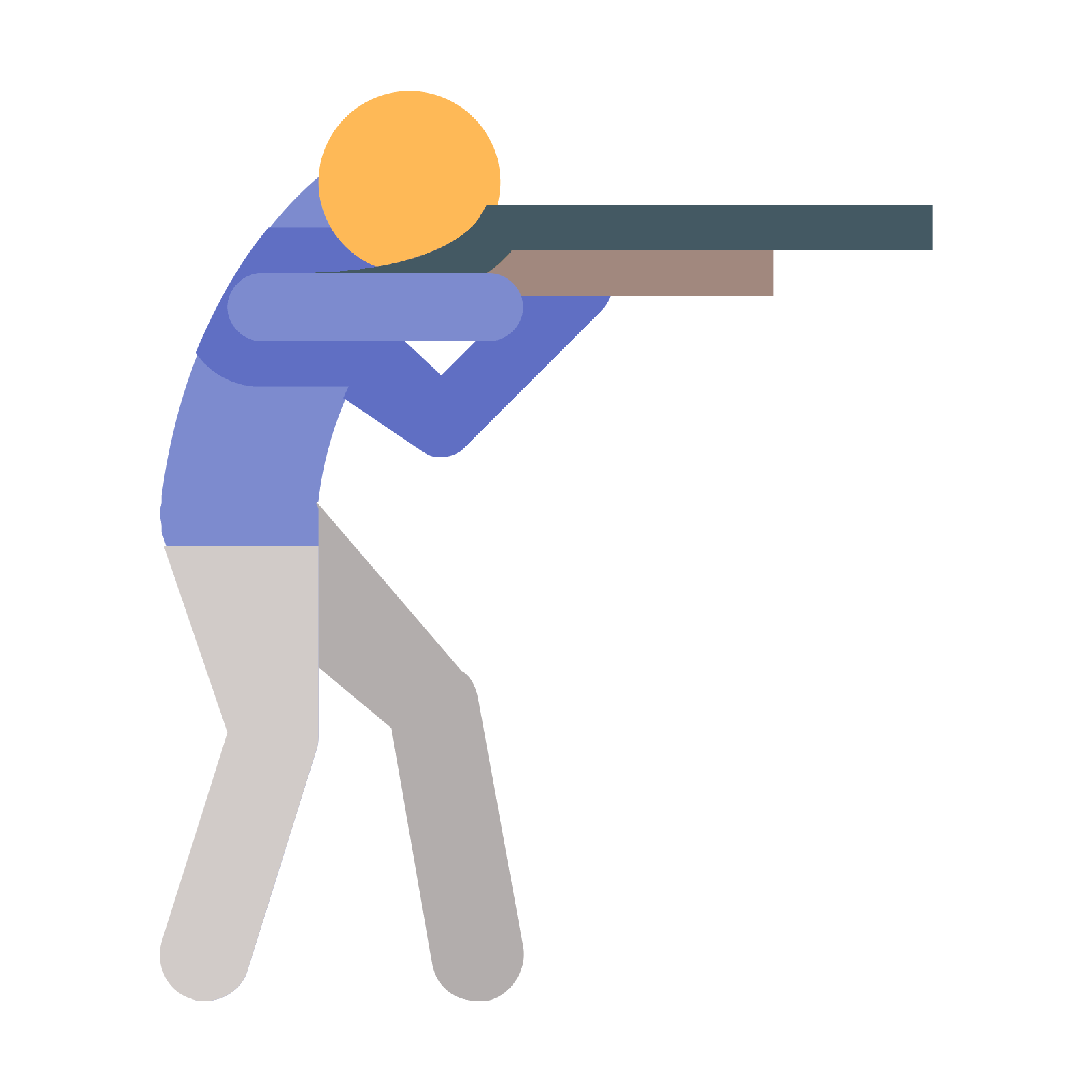 Vector shot ice. Shooting icon free download