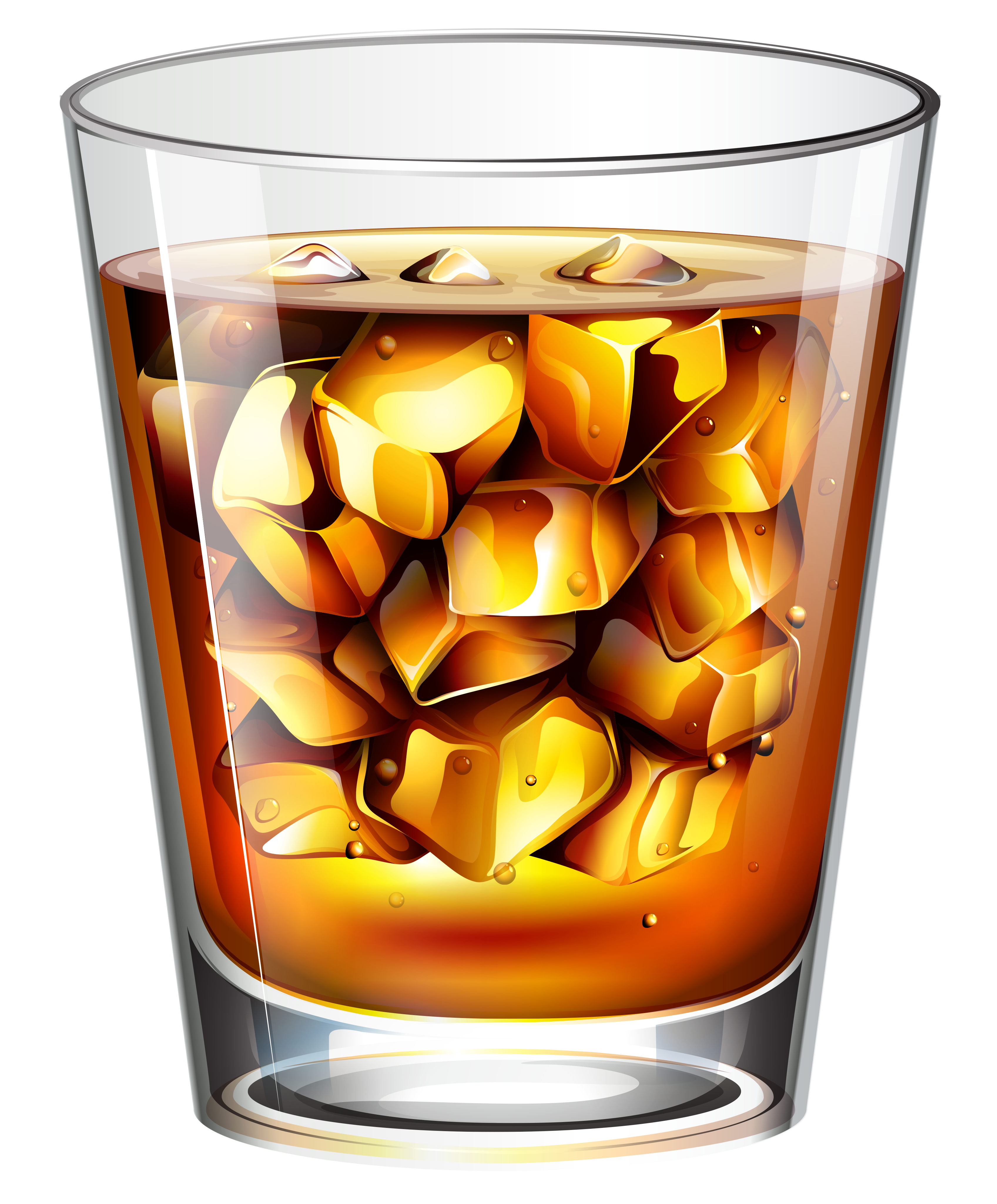Whiskey vector glass. Collection of free dirking