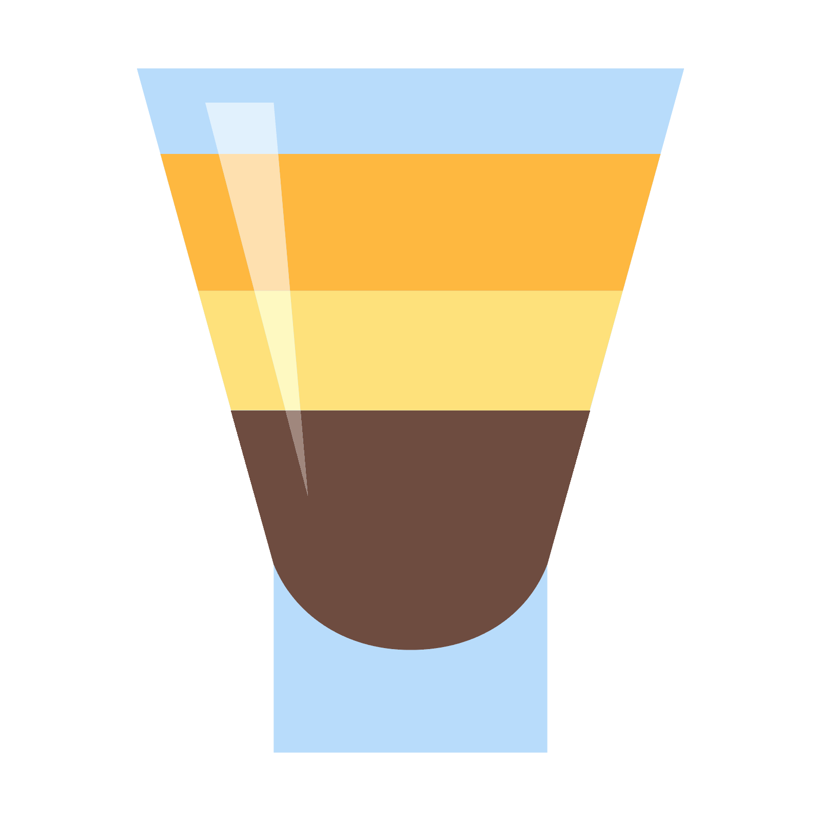 Vector shot ice. Coctail icon free download