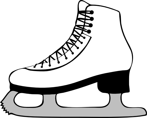Vector skate background. Ice clipart group with