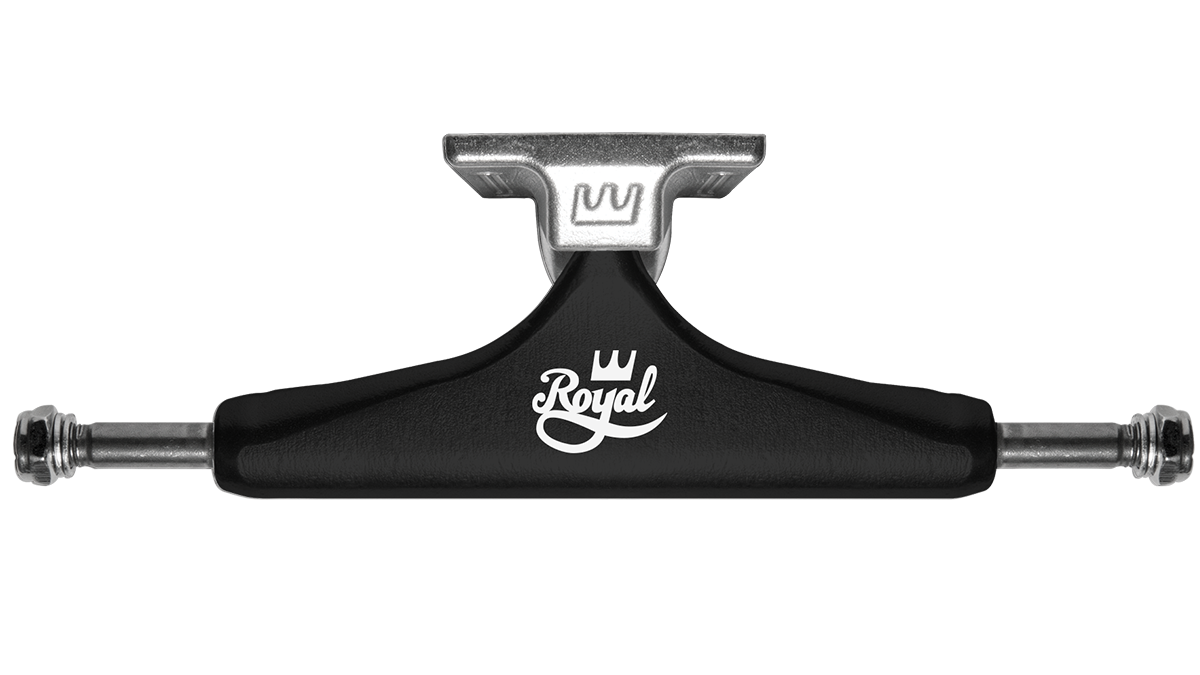 Vector skateboard side view. Trucks royal standard low