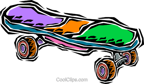 Vector skateboard royalty free. The best clipart images