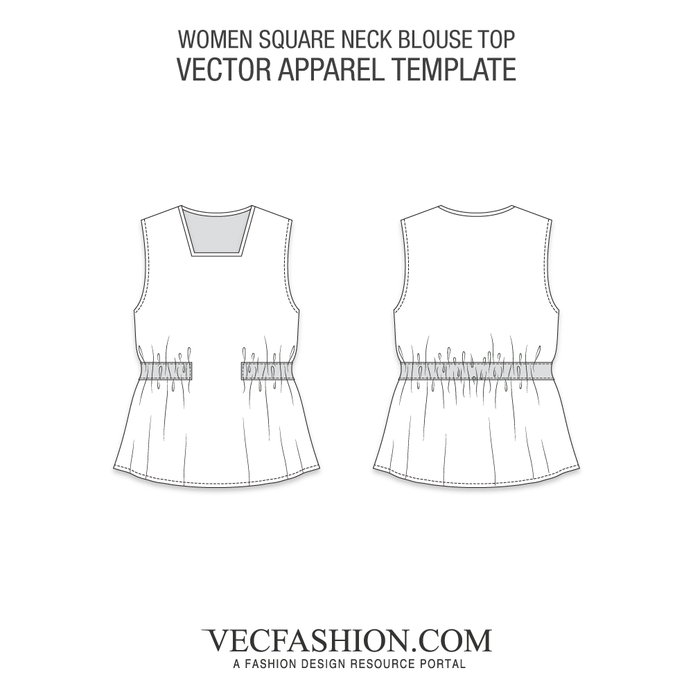 Vector sketches pattern. Tops vests blouses vecfashion