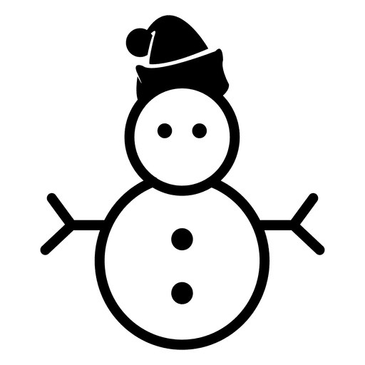 Vector snowman. Christmas icon transparent png