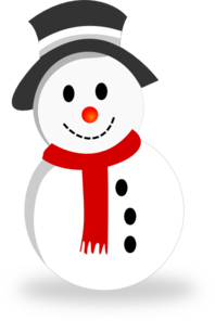 Vector snowman. Clip art at clker