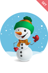 Vector snowman. Very merry free