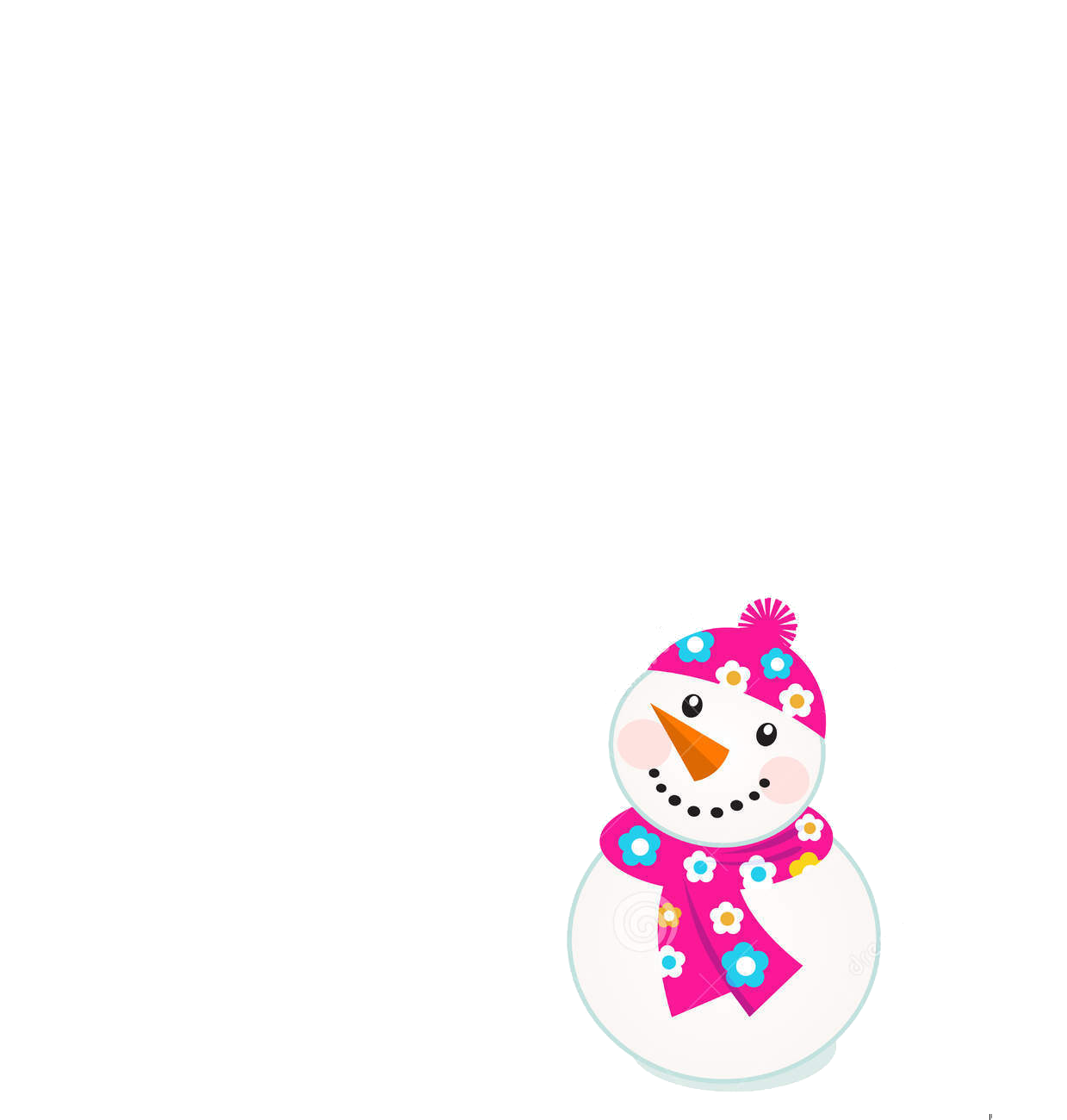 Vector snowman. Cute colorful snowmen para