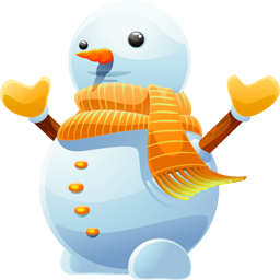 Vector snowman baby. Christmas png image clipart