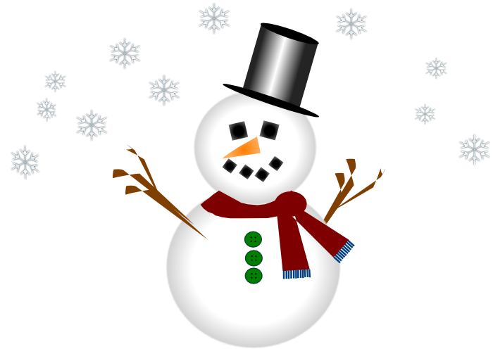 Vector snowman background. Collection of free flaking
