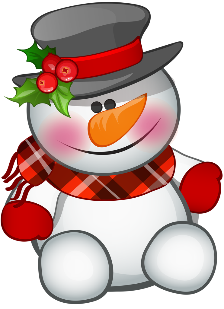 Vector snowman background. Merry christmas and