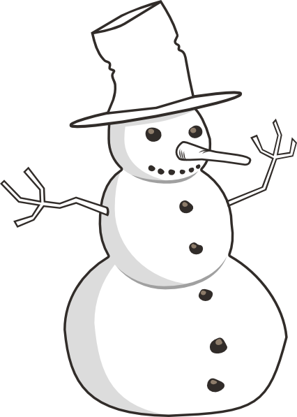 snowmen image freeuse. Vector snowman black and white png freeuse library