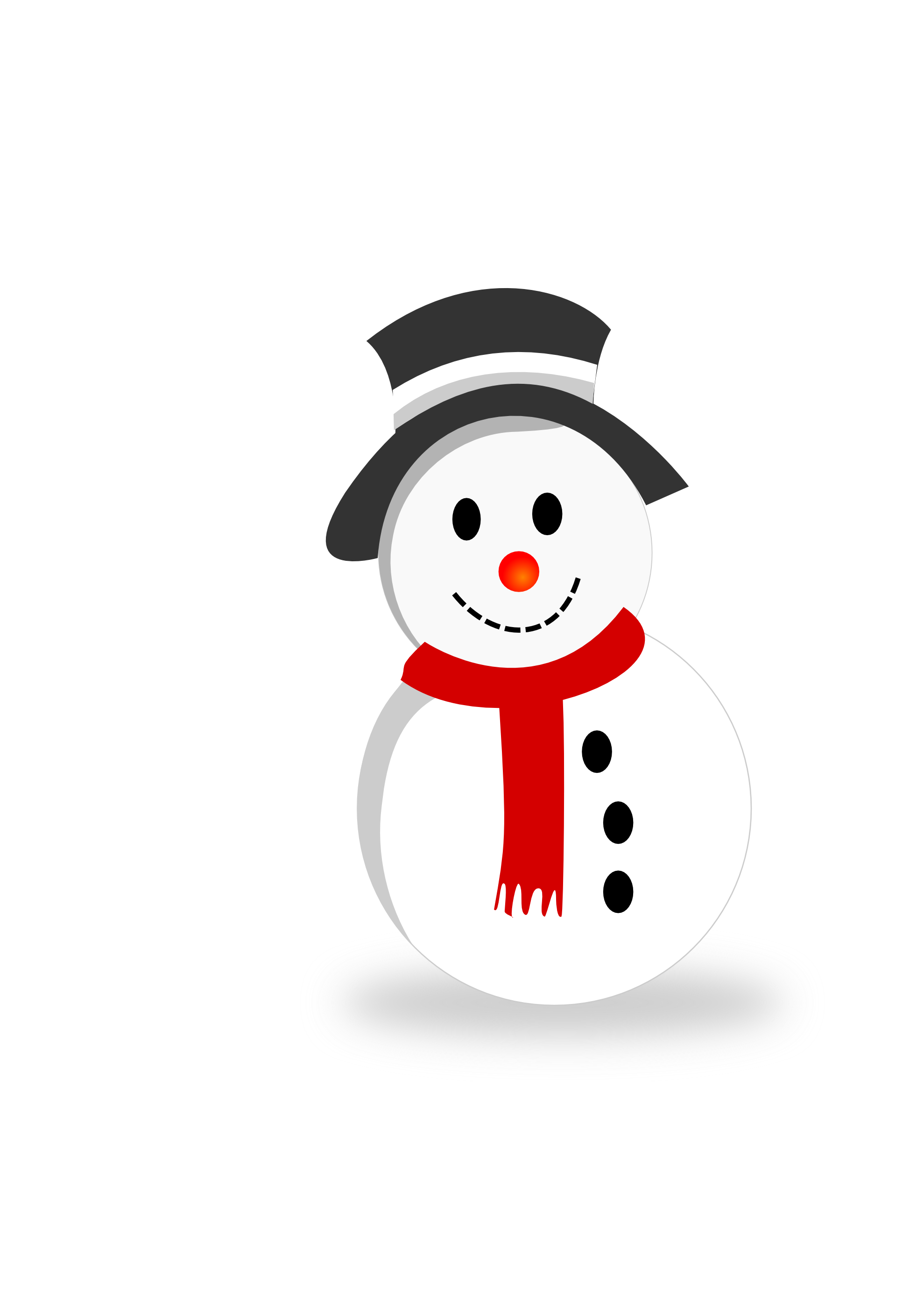 Clipartist net scalable graphics. Vector snowman black and white graphic free download