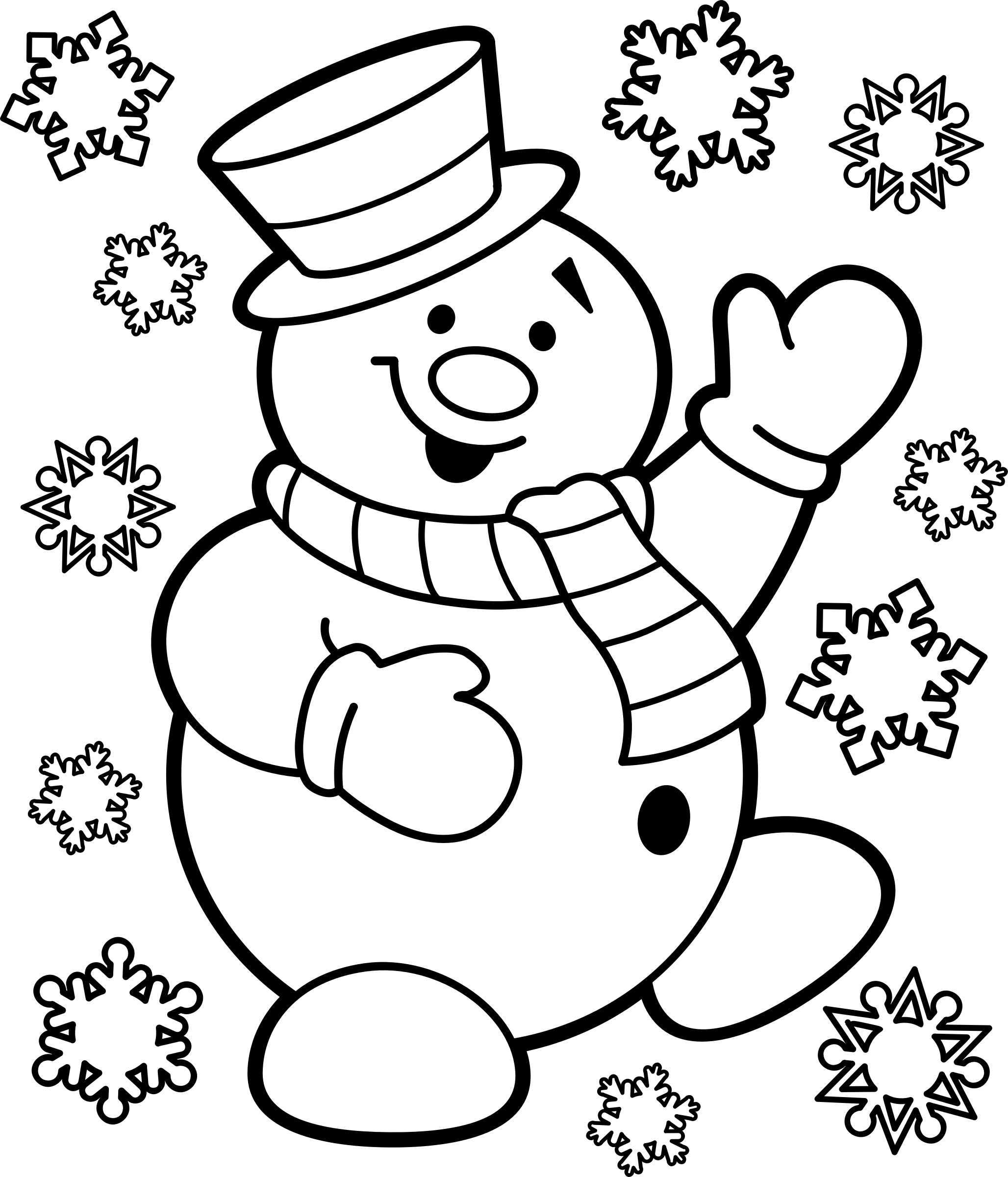 Vector snowman black and white. Christmas icons png free