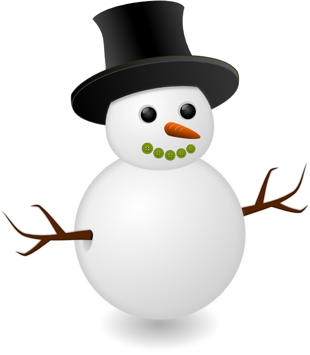 cute clip art. Vector snowman black and white png free