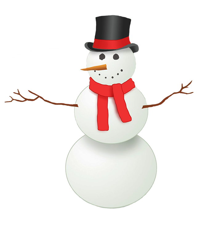 Vector snowman drunk. Clipart with top hat