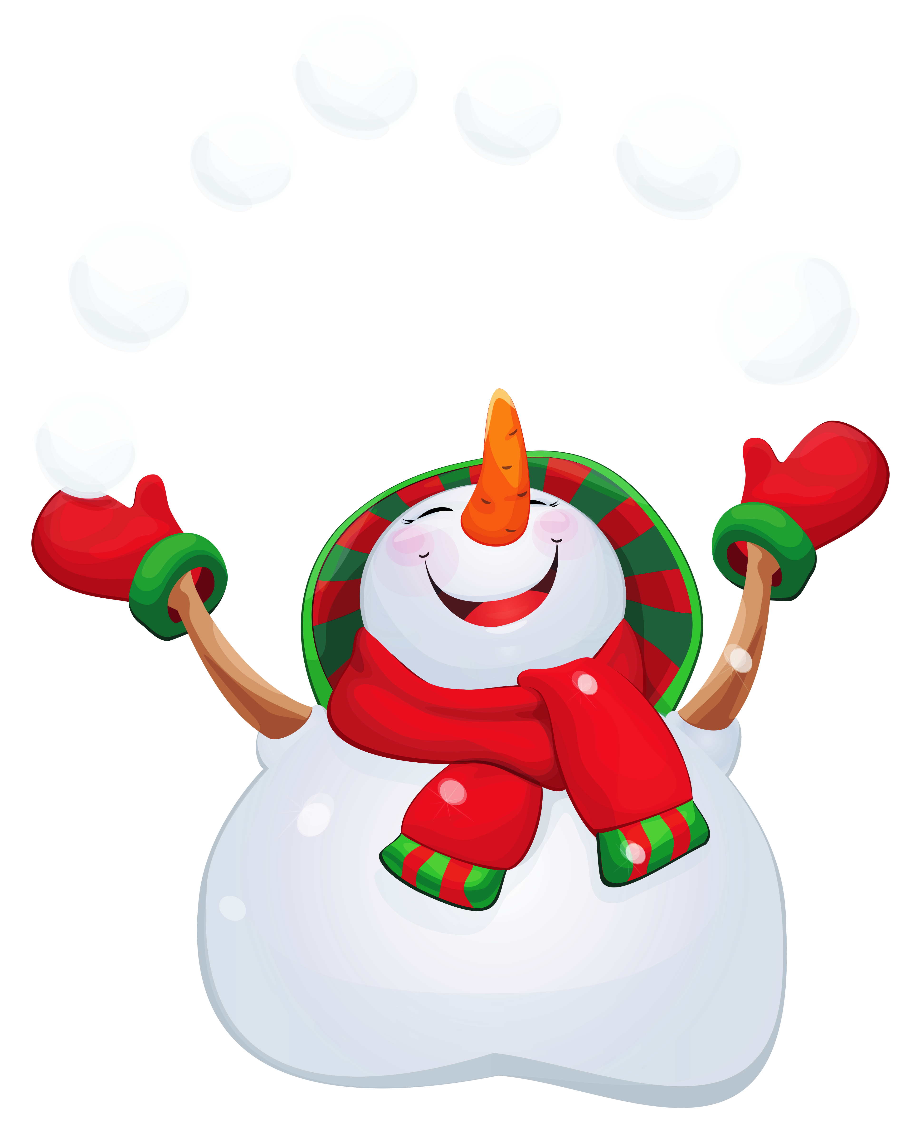 Vector snowman happy. Transparent png clipart gallery