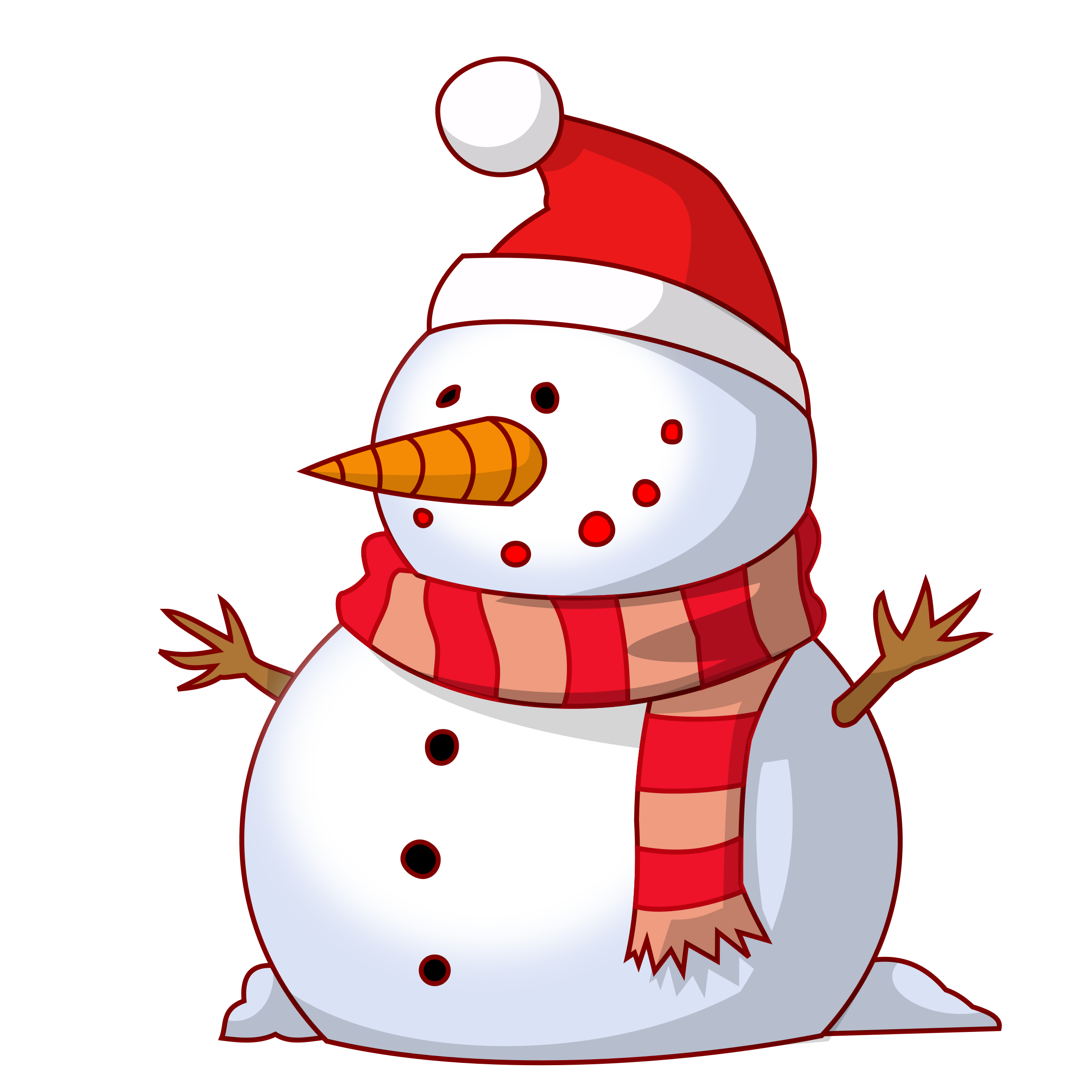 Vector snowman holiday. Christmas library for