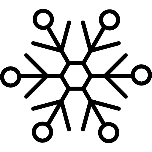 Vector snowman outline. Snowflake variant with small