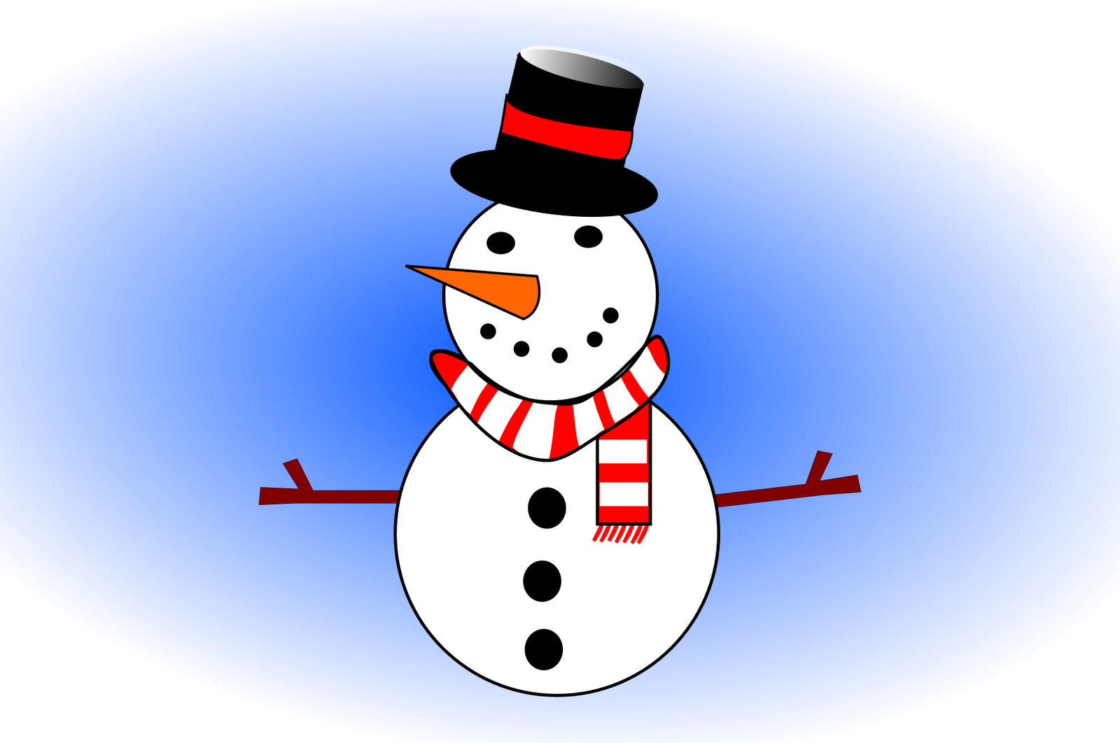 Vector snowman scarf. Megan b digital art