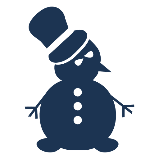 Vector snowman silhouette. Icon transparent png svg