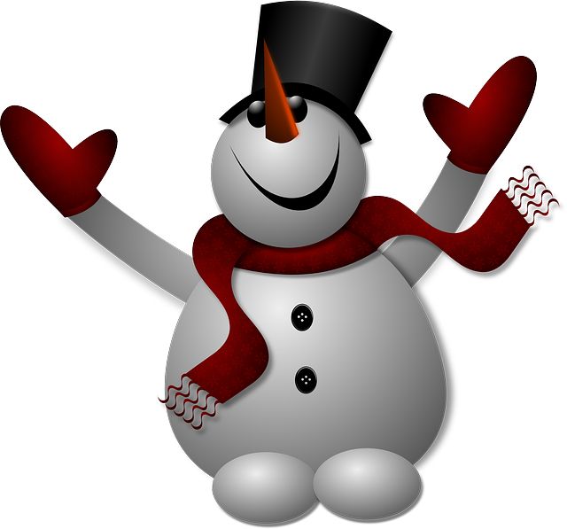 Vector snowman simple. Free image on pixabay