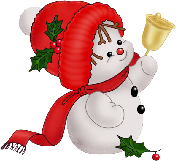 Vector snowman background. Christmas png clipart psd
