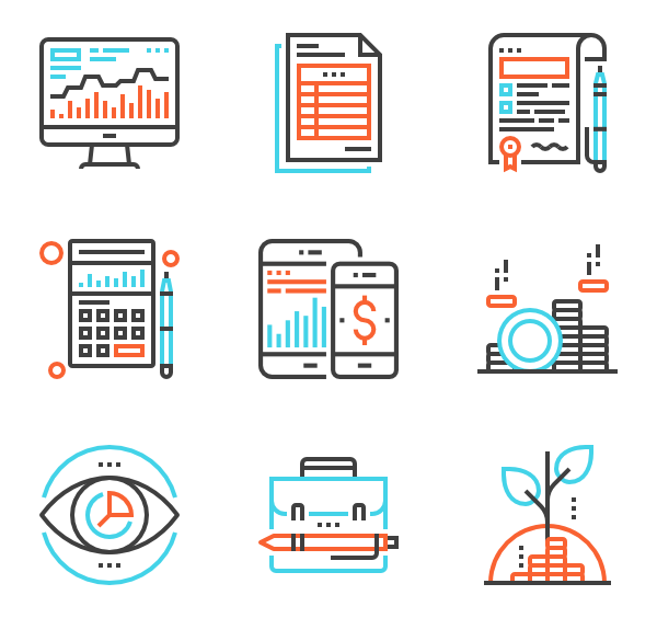 vector solution icons