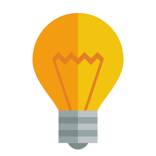 Vector solution light bulb. Icon myiconfinder