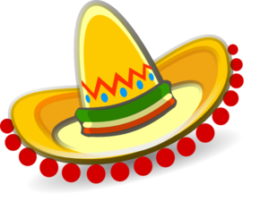 Vector sombrero hat mexico. Mexican clip art at