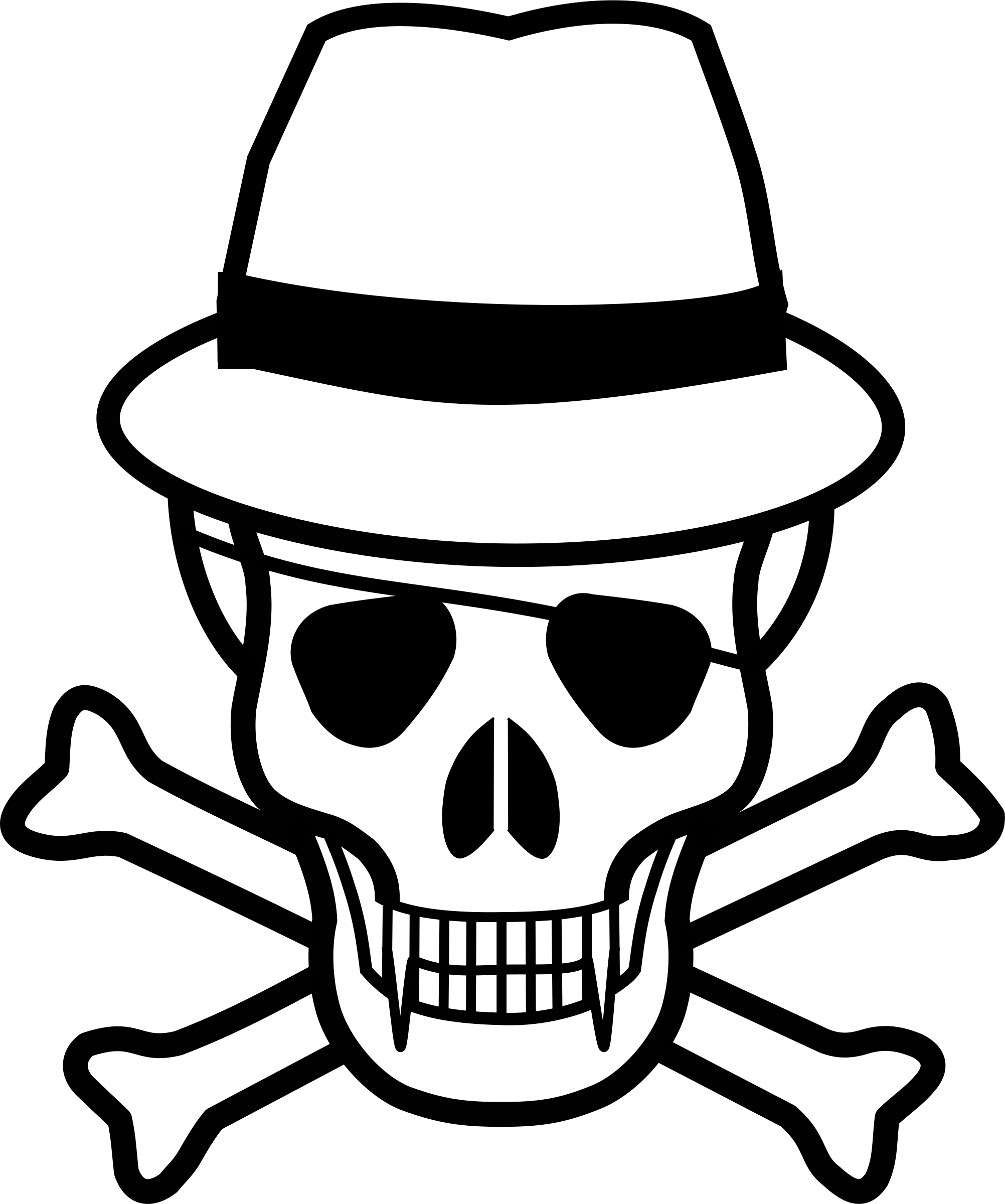 Vector sombrero skull. And hat icons png