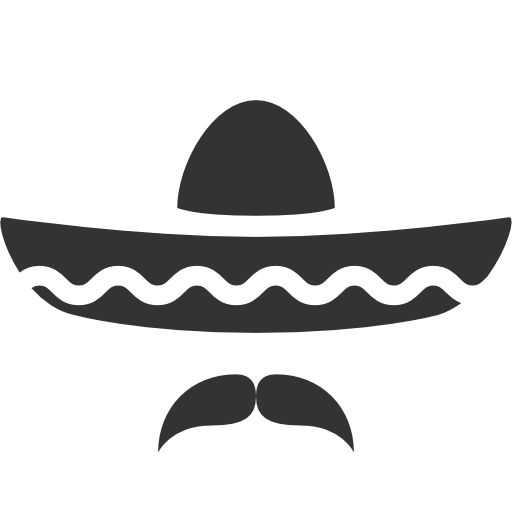 Vector sombrero. Icon free icons download