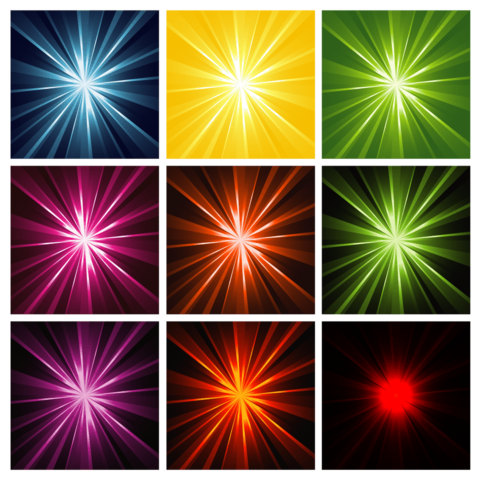 Vector sparkles bright. Light rays background patterns
