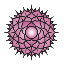 Vector spine golden. Sahasrara crown chakra wikipedia