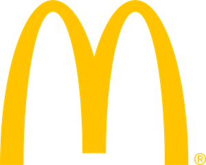 Vector spine golden. Mcdonald s arches logo